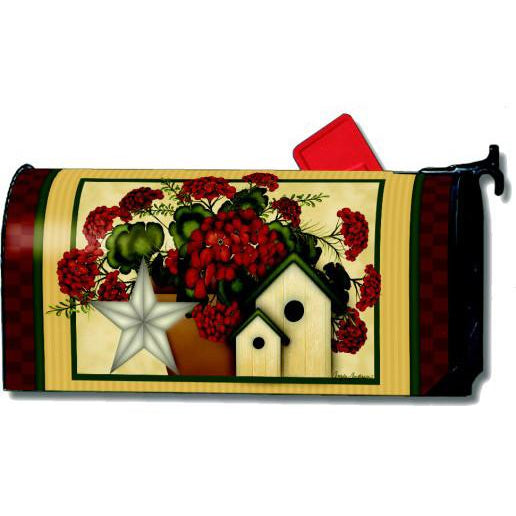 Country Geraniums Standard Mailbox Cover DISCONTINUED