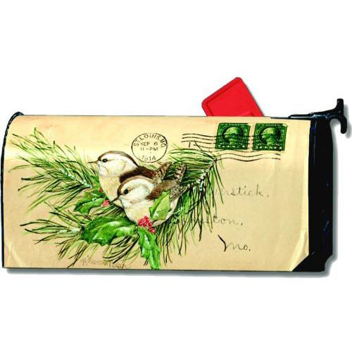 Postage Wrens Standard Mailbox Cover