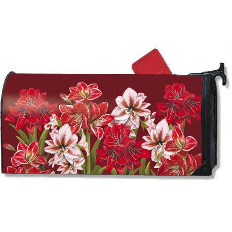 Three Amaryllis Standard Mailbox Cover - FlagsOnline.com by CRW Flags Inc.