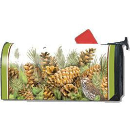 Pinecones Standard Mailbox Cover - FlagsOnline.com by CRW Flags Inc.