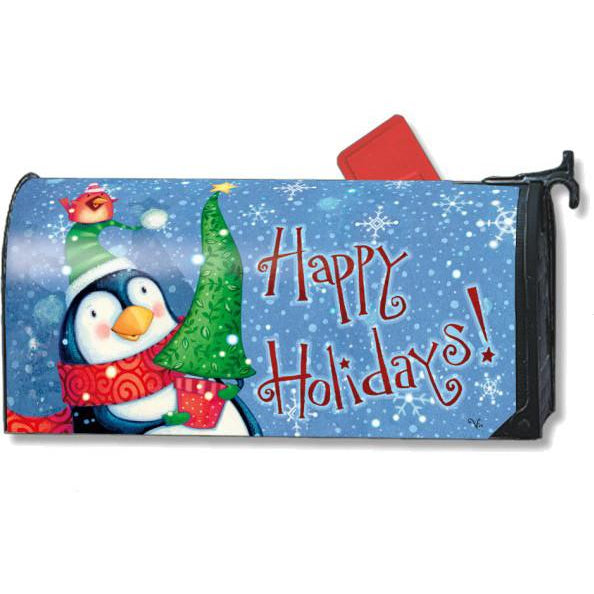 Penguin And Pal Standard Mailbox Cover - FlagsOnline.com by CRW Flags Inc.