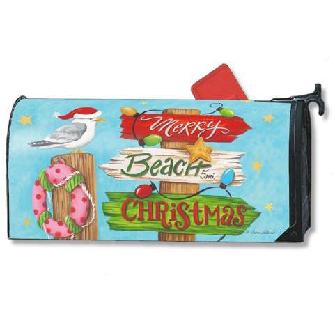Beach Christmas Standard Mailbox Cover - FlagsOnline.com by CRW Flags Inc.