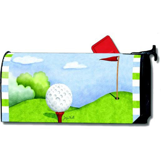 Tee Time Standard Mailbox Cover - FlagsOnline.com by CRW Flags Inc.
