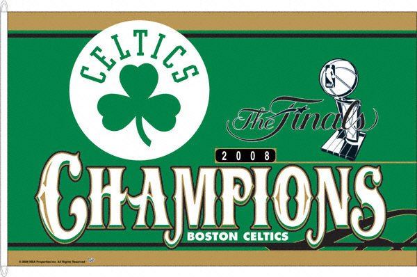 2008 NBA Champs Boston Celtics 3x5ft Flag