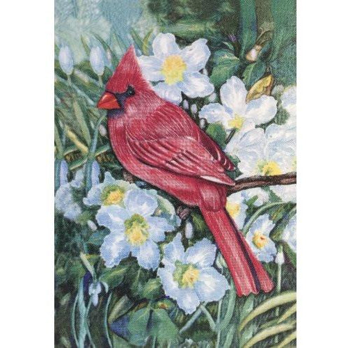 Spring Cardinal - House Flag - FlagsOnline.com by CRW Flags Inc.