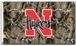 University of Nebraska Camo 3x5ft Flag