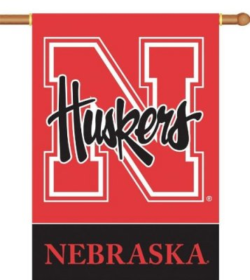 University of Nebraska House Flag 2 Sided