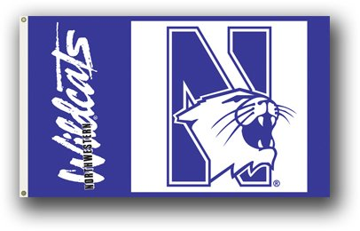 Northwestern University 3x5ft Flag