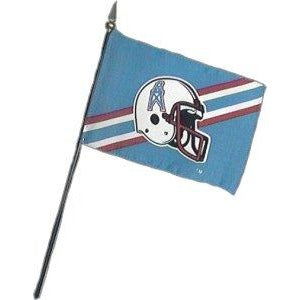 Houston Oilers 4x6in Stick Flag