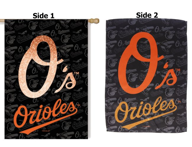 Baltimore Orioles House Flag 2 Sided