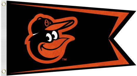 Baltimore Orioles 12x18in Flag 2 Sided