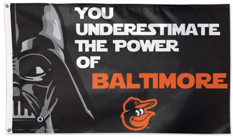 Baltimore Orioles Empire Darth Vader 3x5ft Deluxe Flag
