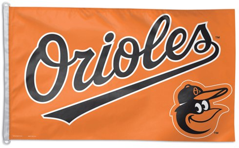 Baltimore Orioles 3x5ft Deluxe Flag