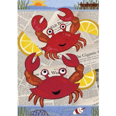 Crab Feast - Garden Flag - FlagsOnline.com by CRW Flags Inc.