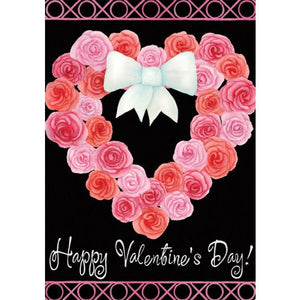 Valentine Wreath - Garden Flag - FlagsOnline.com by CRW Flags Inc.