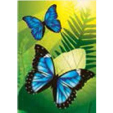 Blue Morpho Butterflies - House Flag - FlagsOnline.com by CRW Flags Inc.