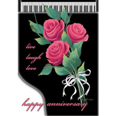Happy Anniversary Piano - Garden Flag