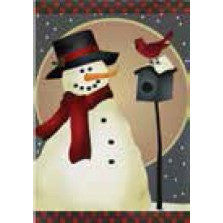 Nature Snowman - House Flag - FlagsOnline.com by CRW Flags Inc.