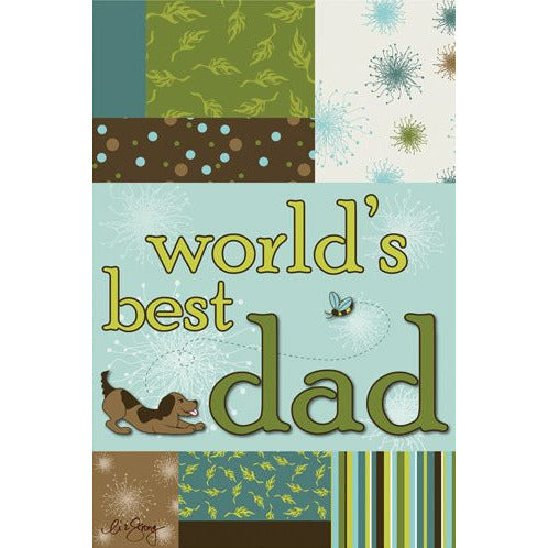 World's Best Dad II - House Flag - FlagsOnline.com by CRW Flags Inc.