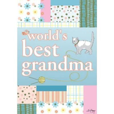 World's Best Grandma - Garden Flag