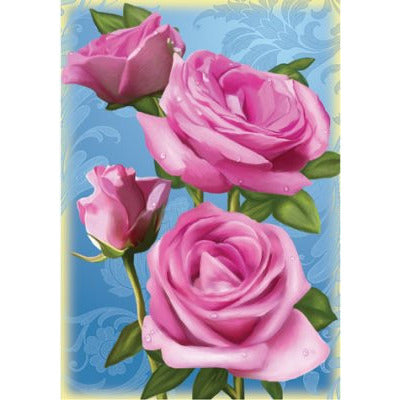 Pretty in Pink Roses - Garden Flag - FlagsOnline.com by CRW Flags Inc.
