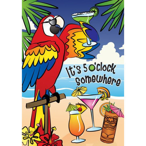 5 O'Clock Somewhere - House Flag - FlagsOnline.com by CRW Flags Inc.