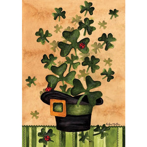 Shamrock Burst - Garden Flag - FlagsOnline.com by CRW Flags Inc.