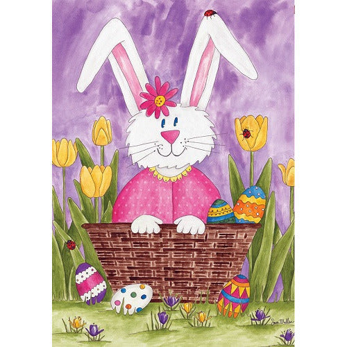 Bunny & Tulips - Garden Flag - FlagsOnline.com by CRW Flags Inc.