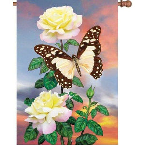 White Lady Swallowtail - Garden Flag