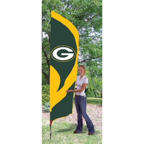 Green Bay Packers 8ft Feather Sewn Flag Kit