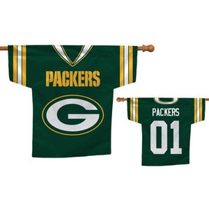 Green Bay Packers Jersey House Flag 2 Sided