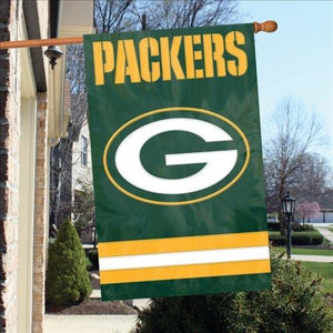 Green Bay Packers House Sewn Flag 2 Sided