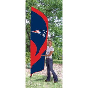 New England Patriots 8ft Feather Sewn Flag Kit