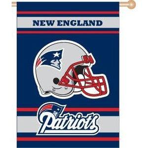 New England Patriots House Flag 2 Sided