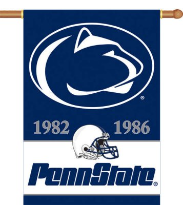 Pennsylvania State University Championship Years House Flag 2 Sided