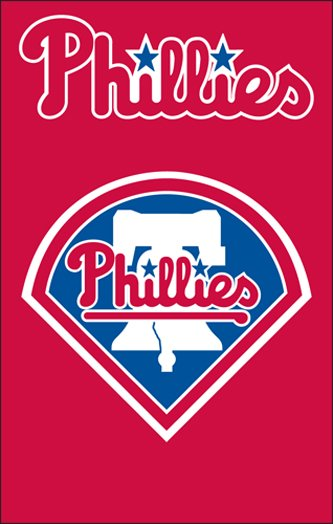 Philadelphia Phillies House Flag 2 Sided