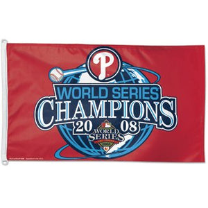 Philadelphia Phillies 2008 World Series Champs 3x5ft Flag
