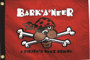 Barkaneer a Pirate's Best Friend 12x18in Flag - Nylon