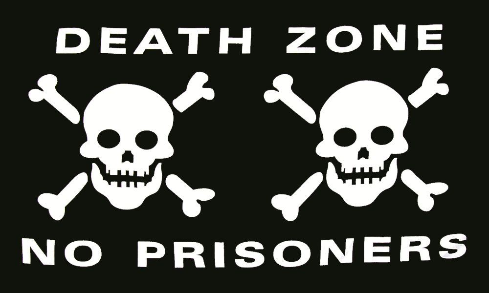 Death Zone Pirate Flag - Light Polyester