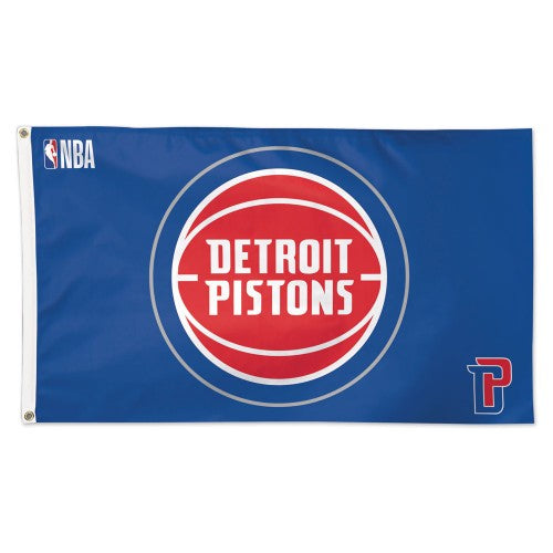 Detroit Pistons 3x5ft Deluxe Flag