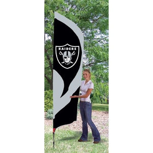 Oakland Raiders 8ft Feather Sewn Flag Kit