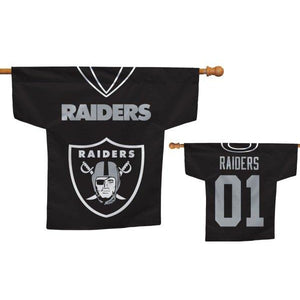 Oakland Raiders Jersey House Flag 2 Sided