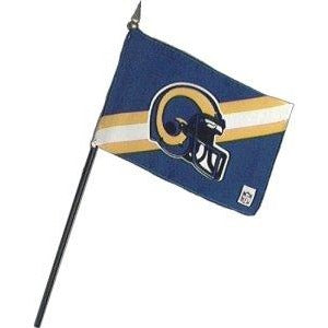 St Louis Rams 4x6in Stick Flag