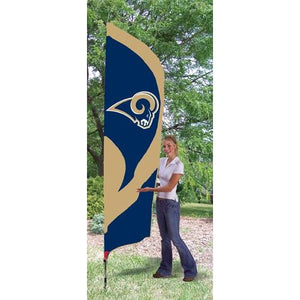 St Louis Rams 8ft Feather Sewn Flag Kit