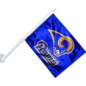 St Louis Rams Car Flag 2 Sided