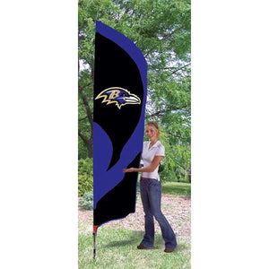 Baltimore Ravens 8ft Feather Sewn Flag Kit