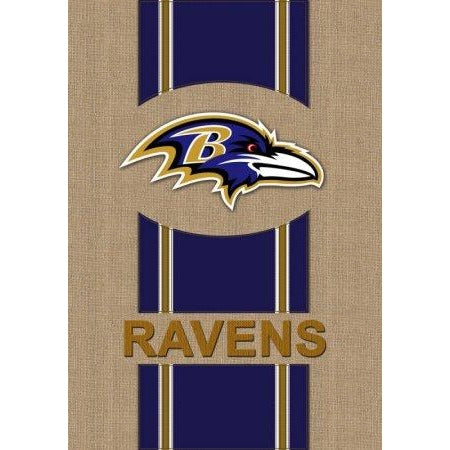 Baltimore Ravens Burlap Garden Flag 2 Sided