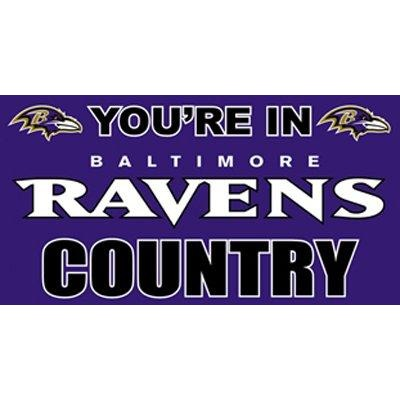 Baltimore Ravens Country 3x5ft Flag