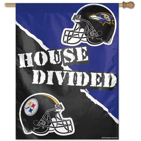 Baltimore Ravens / Pittsburgh Steelers House Divided House Flag
