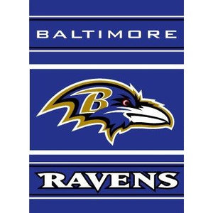 Baltimore Ravens House Flag 2 Sided